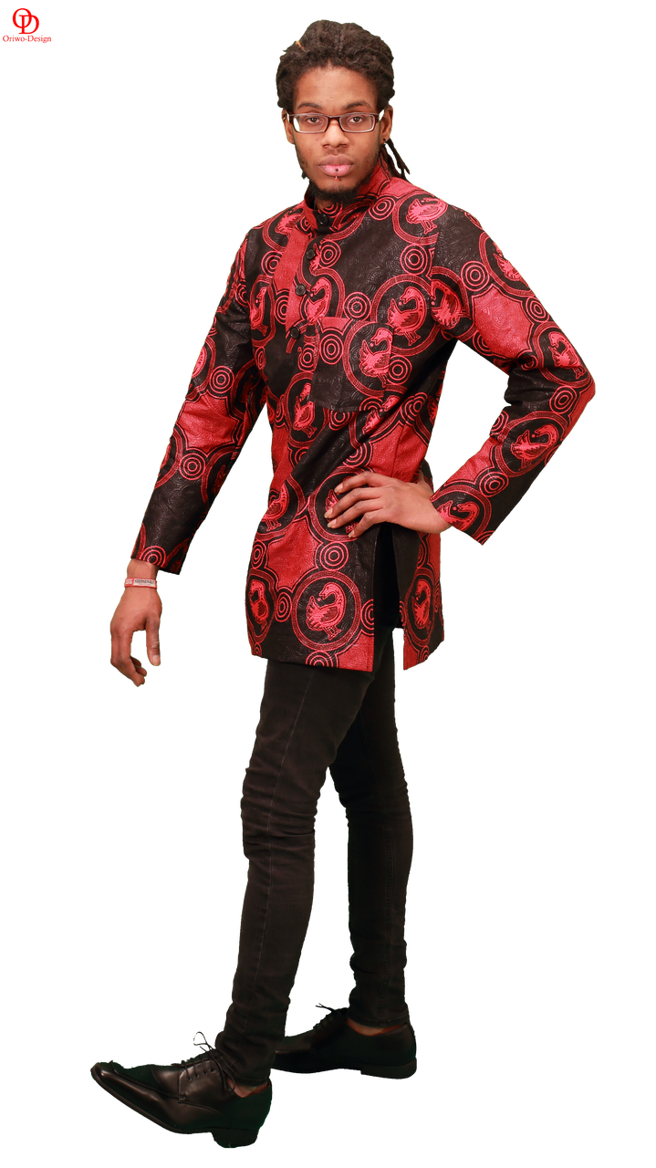 red black african print shirt mens shirt