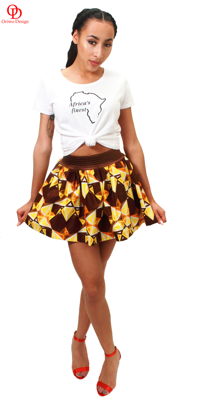 Ankara flirty short skirt