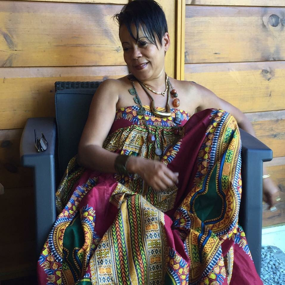 Dashiki Print Maxi skirt styled as a Dress