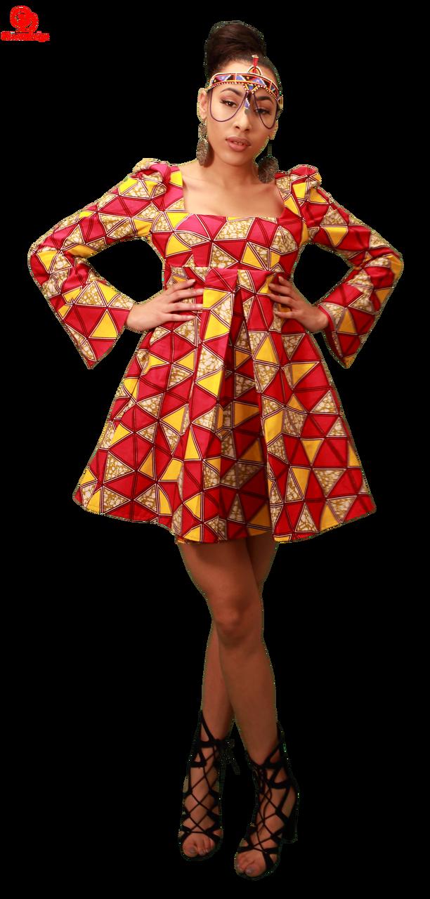 A-line african print dress