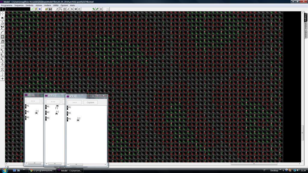 Esempio di programma motivo leopardato jaquart 3 colori.