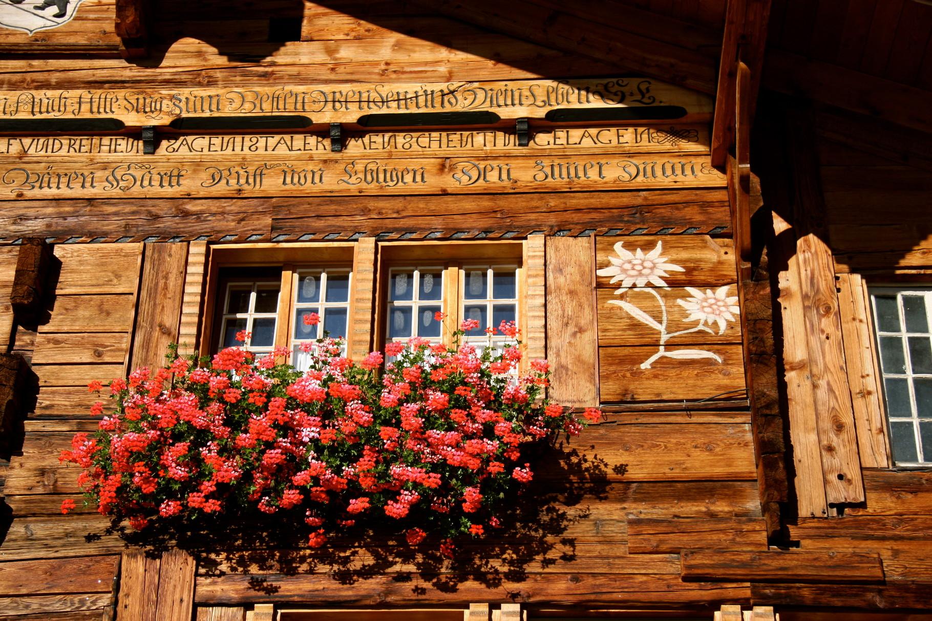 L'hôtel est une maison typique de l'Oberland Bernois
