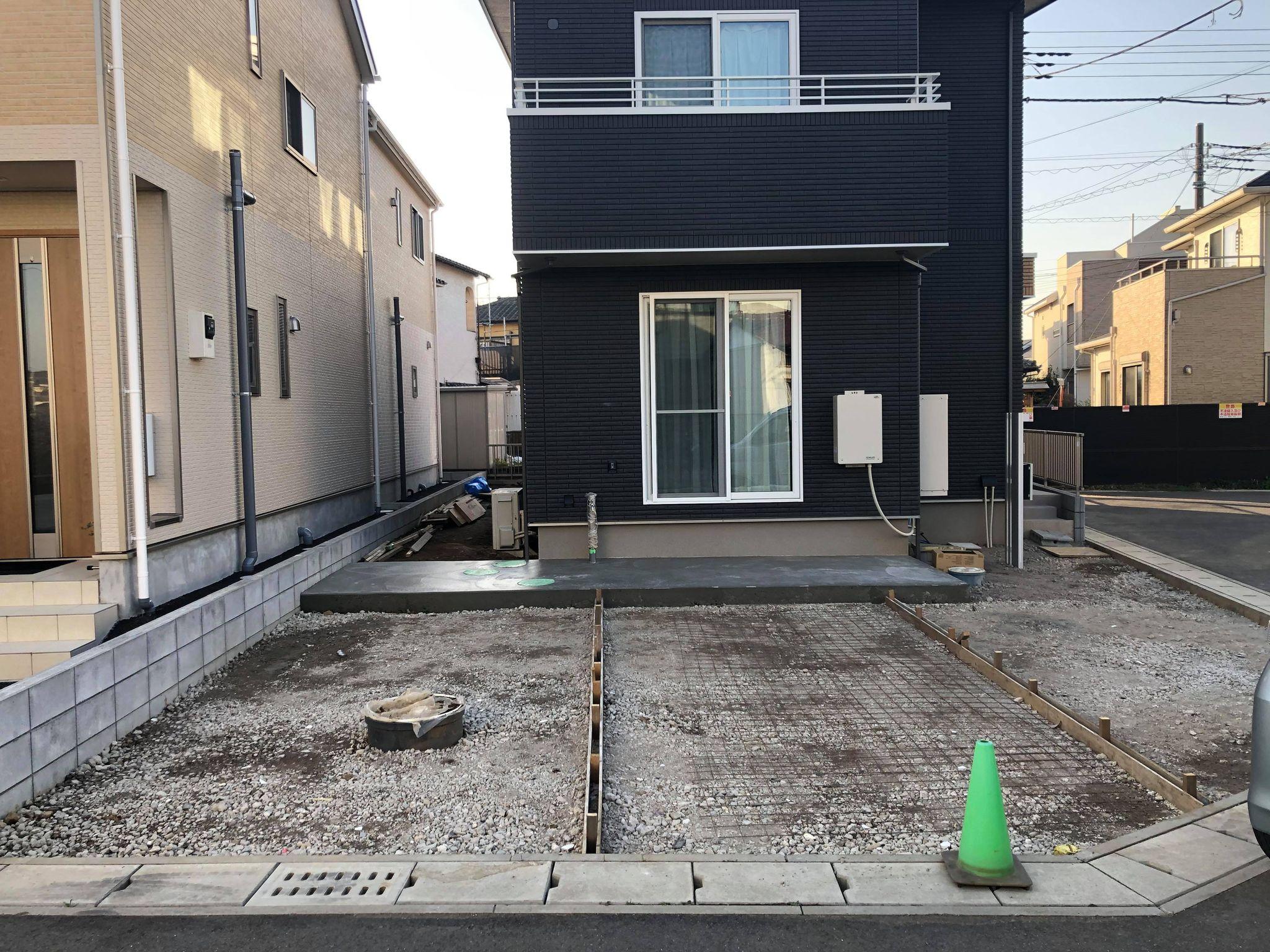 施工中 土間コンクリート工事