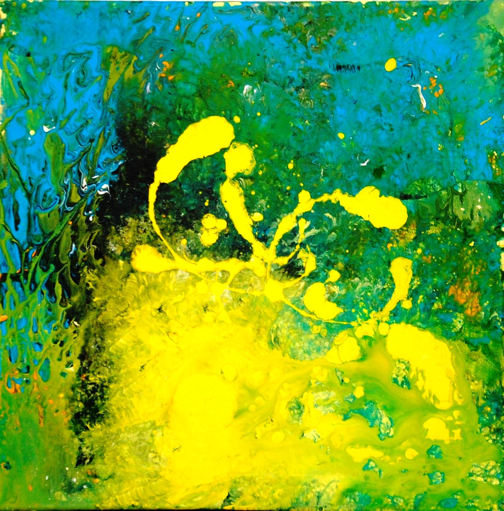 Unter Wasserwelt II 40x40 cm Acylfarbe mit Pigmenten