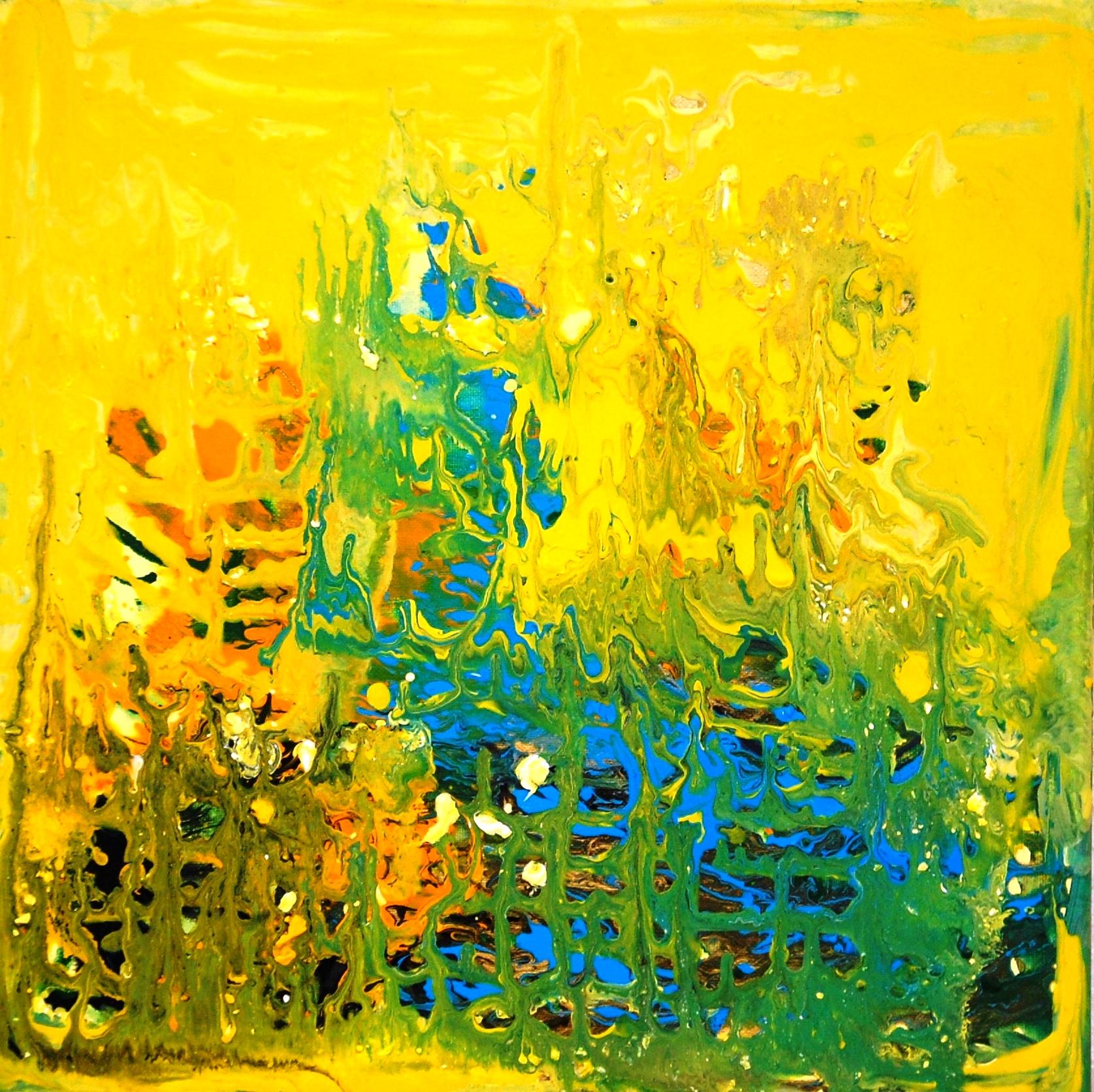 Unter Wasserwelt I 40x40 cm Acrylfarbe mit Pigmenten