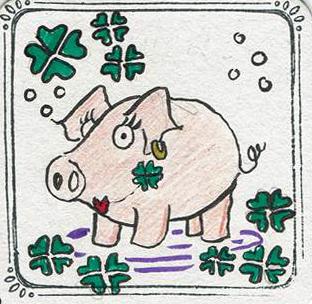 Schweinchen, Minikunst to Go Altstadt Weihnachtsmarkt Fürth 2017