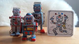 Roboter, Minikunst to Go Altstadt Weihnachtsmarkt Fürth 2017
