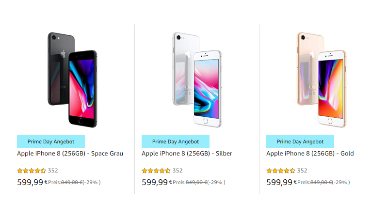 f60e5aef943d6d Prime Day 2019-Angebot: 29% Rabatt auf das iPhone 8 mit 256GB ...