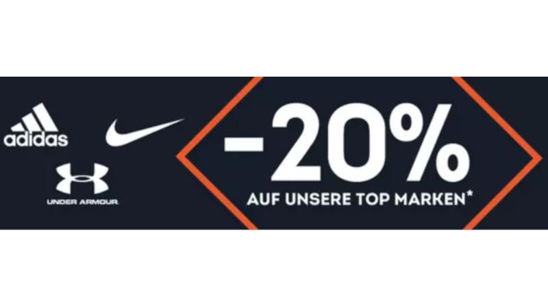 7b6b611ac6 SportScheck Gutschein: 20% Rabatt auf Nike, Adidas und Under Armour ...