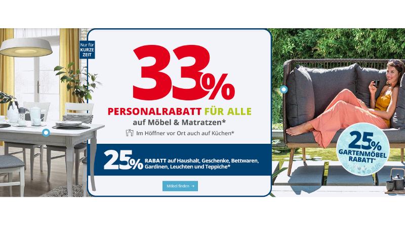 33 Rabatt Angebot Auf Möbel Matratzen Im Möbel Höffner Onlineshop