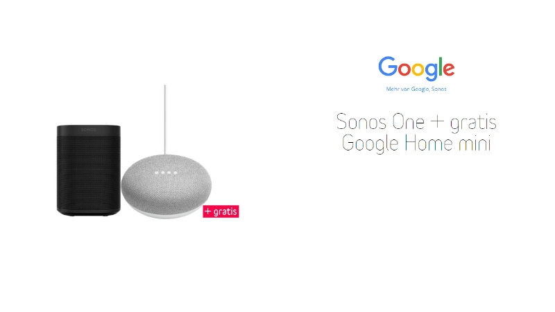 sonos one f r 228 99 gratis google home mini. Black Bedroom Furniture Sets. Home Design Ideas