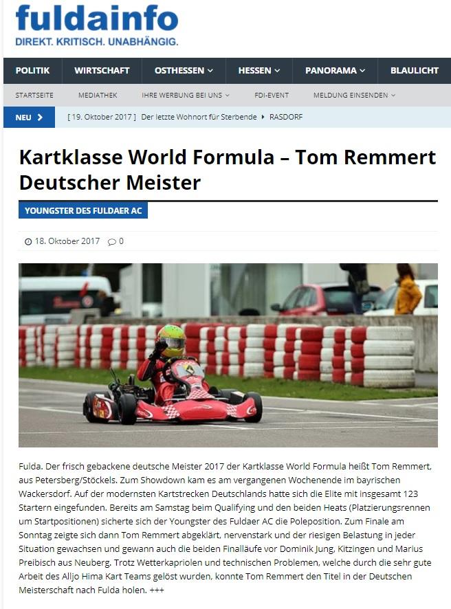 Veröffentlicht auch unter: http://www.osthessen-zeitung.de/einzelansicht/news/2017/oktober/kart-tom-remmert-kroent-sich-zum-deutschen-meister-1.html