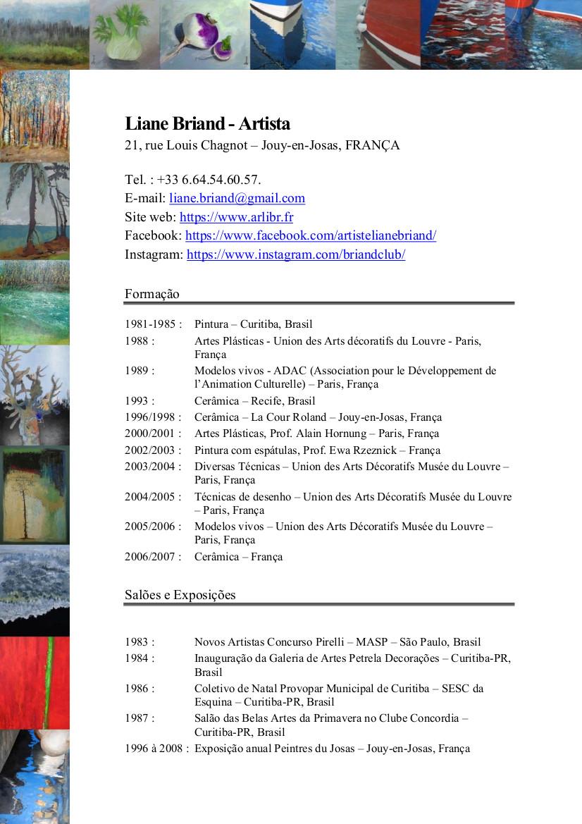 CV Liane BRIAND - Português -  página 1