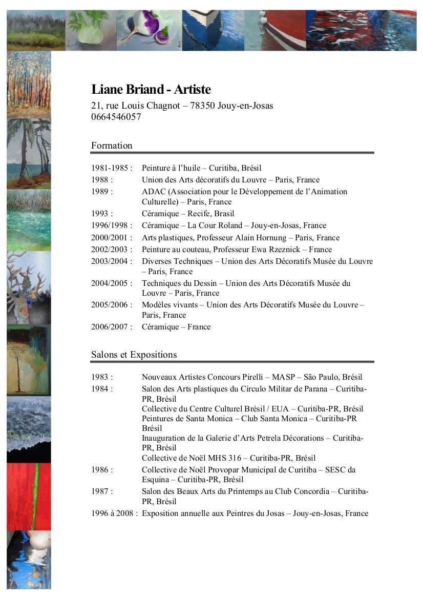 CV Liane BRIAND - Français - page 1