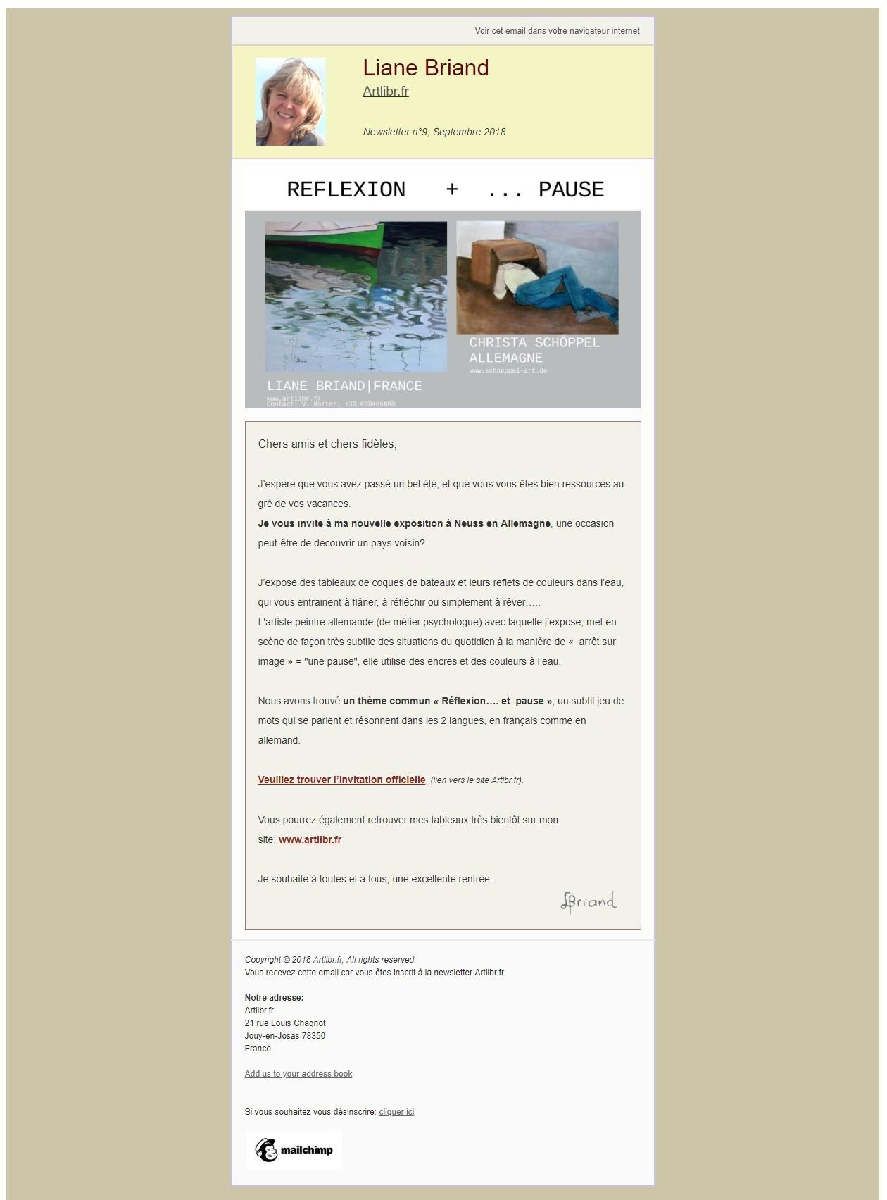 Newsletter N°9 Artlibr.Fr: Nouvelle Exposition À Neuss En Allemagne