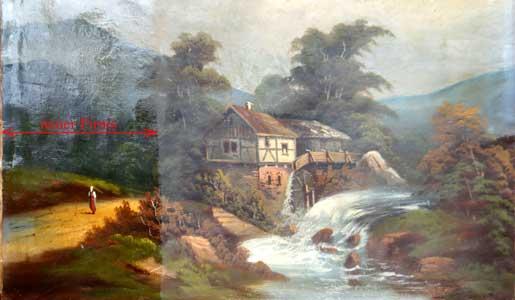 Bild 1: Während des Firnissens