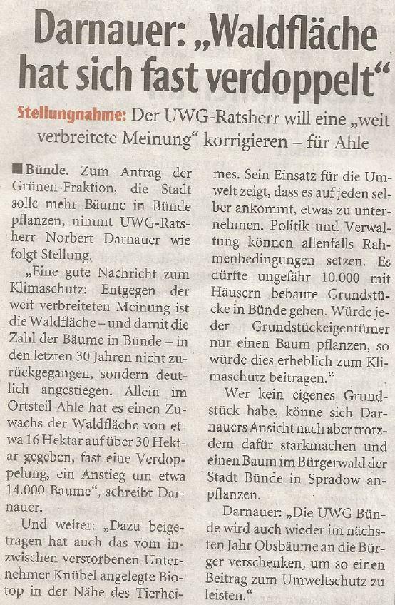 Mit freundlicher Genehmigung der Neuen Westfälischen (Artikel vom 18.06.2019)