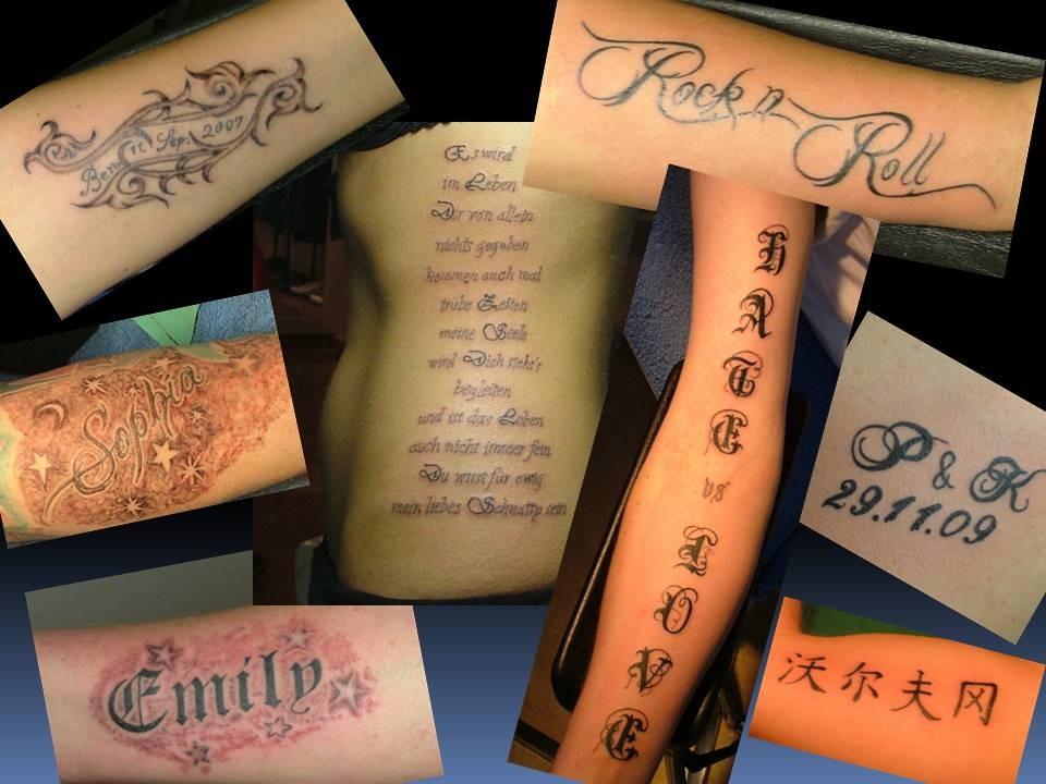 Tattoo Greifswald Schrift