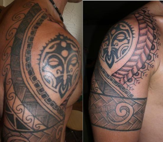 Polynesisches Tattoo Freihand
