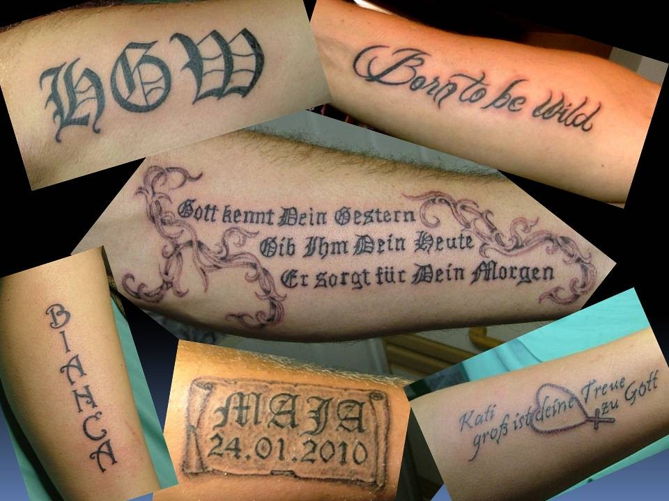 Tatttoo Schrift Greifswald