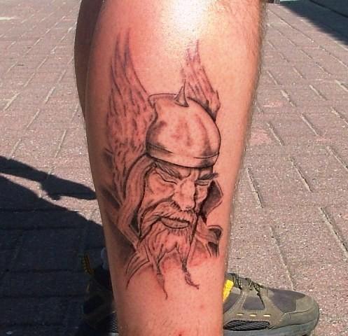 Tattoo Greifswald  Wikingerkopf