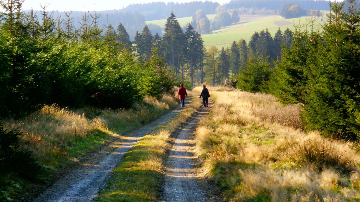 Wanderer auf zertifiziertem Wanderweg