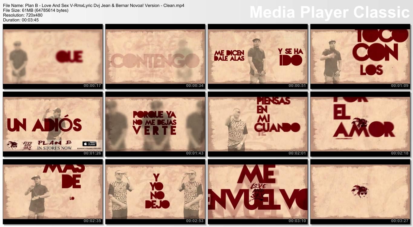 Plan B - Love And Sex V-RmxLyric Dvj Jean & Bernar Novoa! Version - Clean.mp4