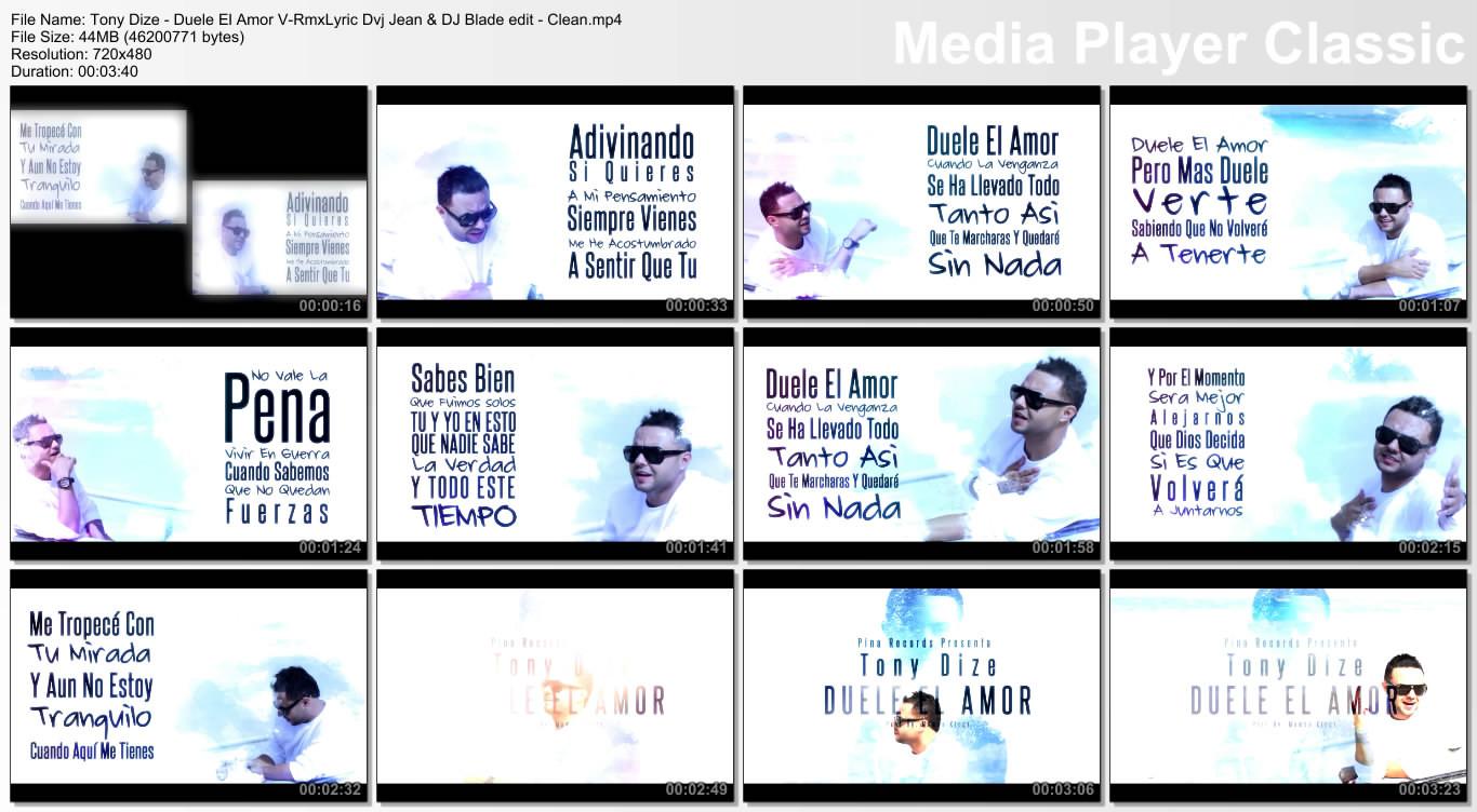 Tony Dize - Duele El Amor V-RmxLyric Dvj Jean & DJ Blade edit - Clean.mp4
