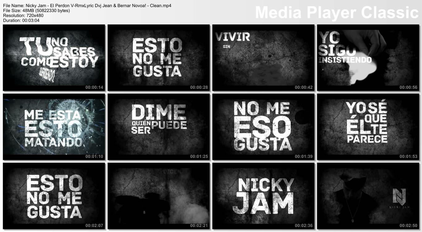 Nicky Jam - El Perdon V-RmxLyric Dvj Jean & Bernar Novoa! - Clean.mp4