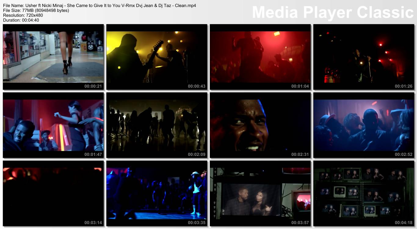 Usher ft Nicki Minaj - She Came to Give It to You V-Rmx Dvj Jean & Dj Taz - Clean.mp4