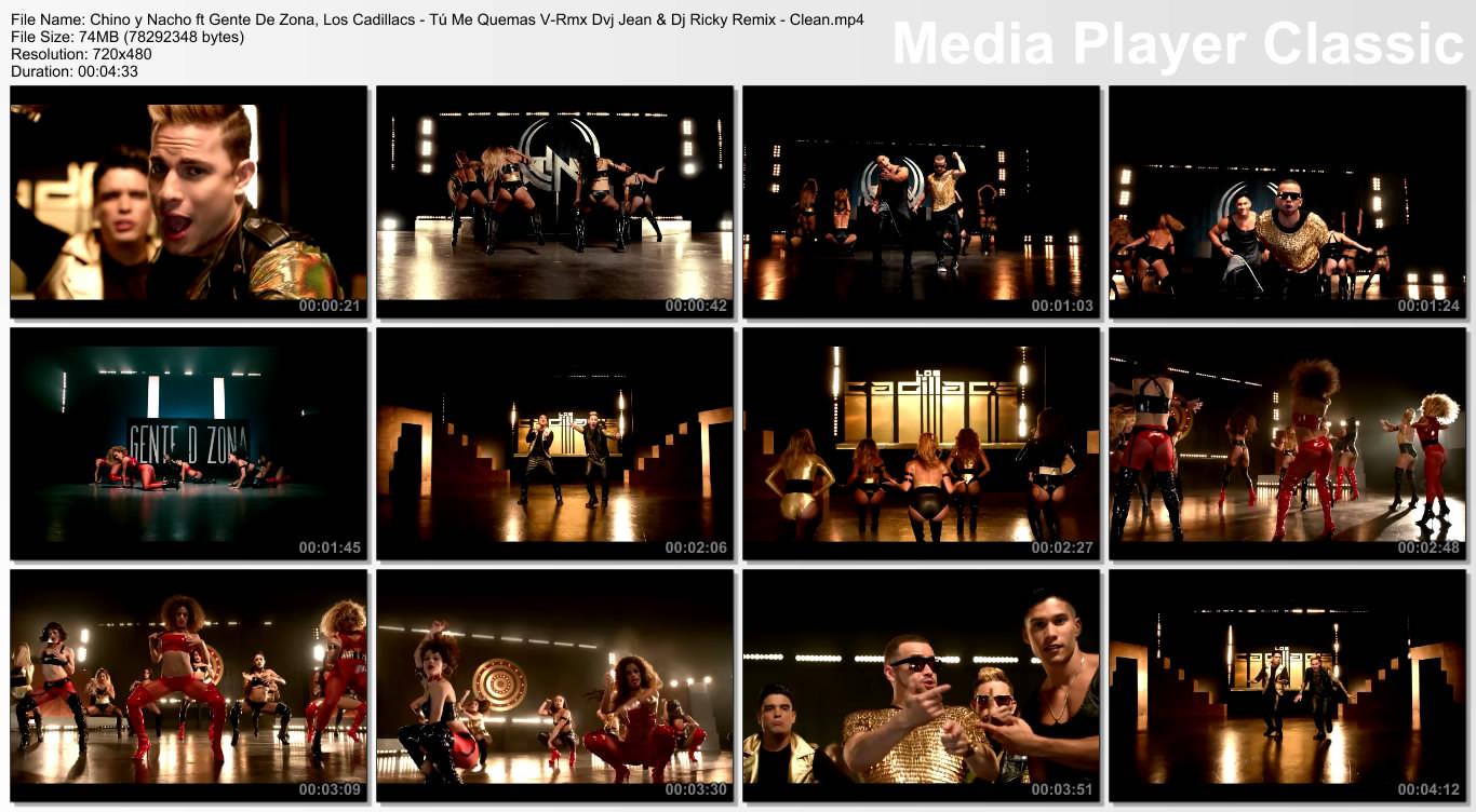 Chino y Nacho ft Gente De Zona, Los Cadillacs - Tú Me Quemas V-Rmx Dvj Jean & Dj Ricky Remix - Clean.mp4