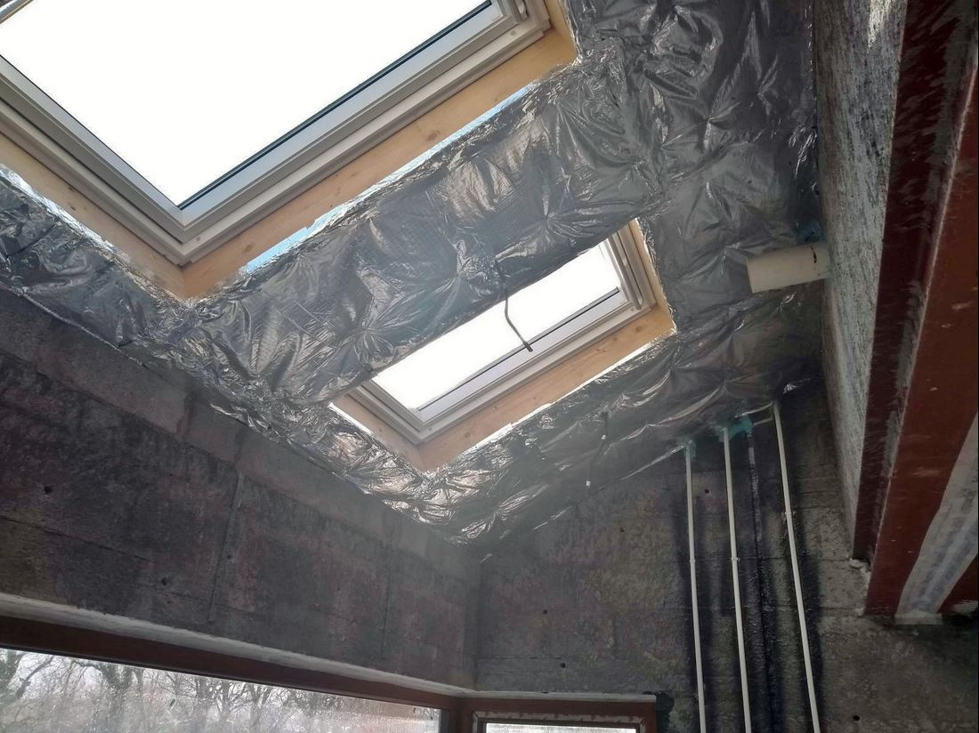 Standard installation of SuperQuilt, as coming from a local insulation installer