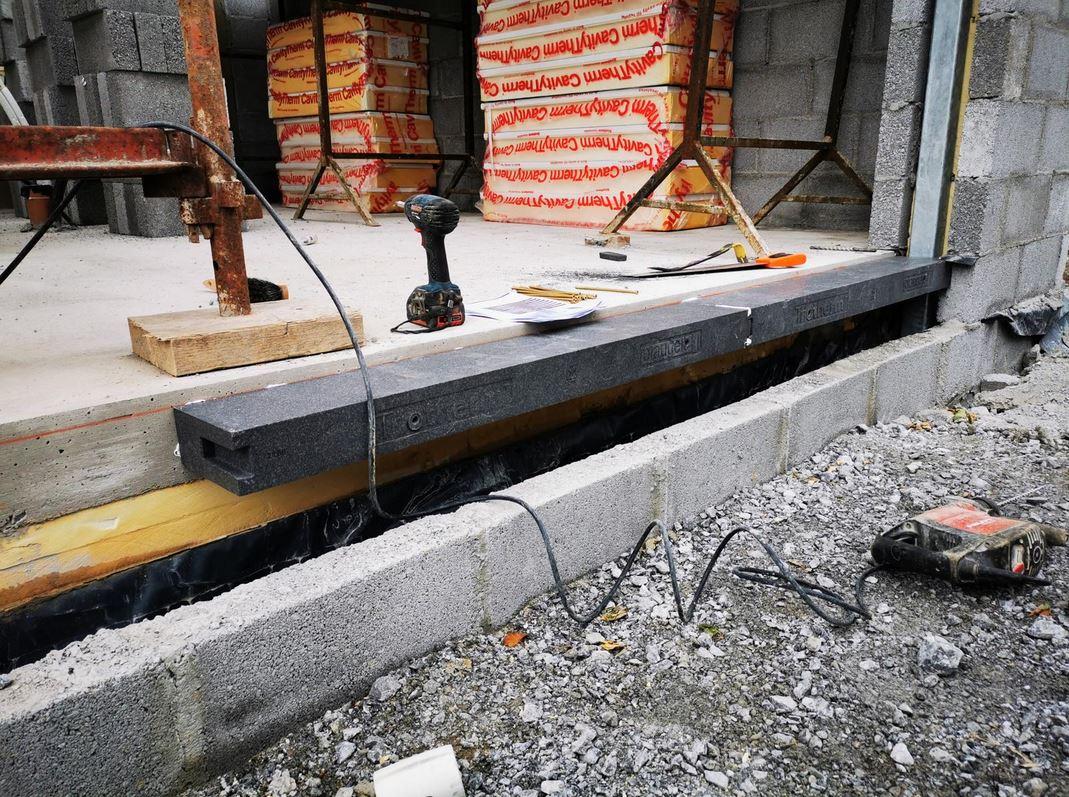 The Solution: Triotherm+ thermal brackets - 180mmx85mmx1,175mm/ Triotherm PowerFix Sealant/ Concrete Screws 7.5x232mm