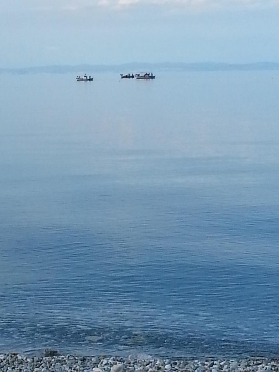 Fischerboote im Meer