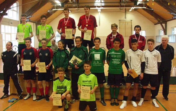 Siegerehrung der besten 8 Teams der IBRMV Meisterschaft Junioren 2016