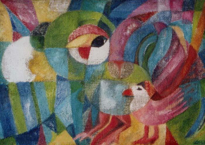 Im Wandern zwei Hühner