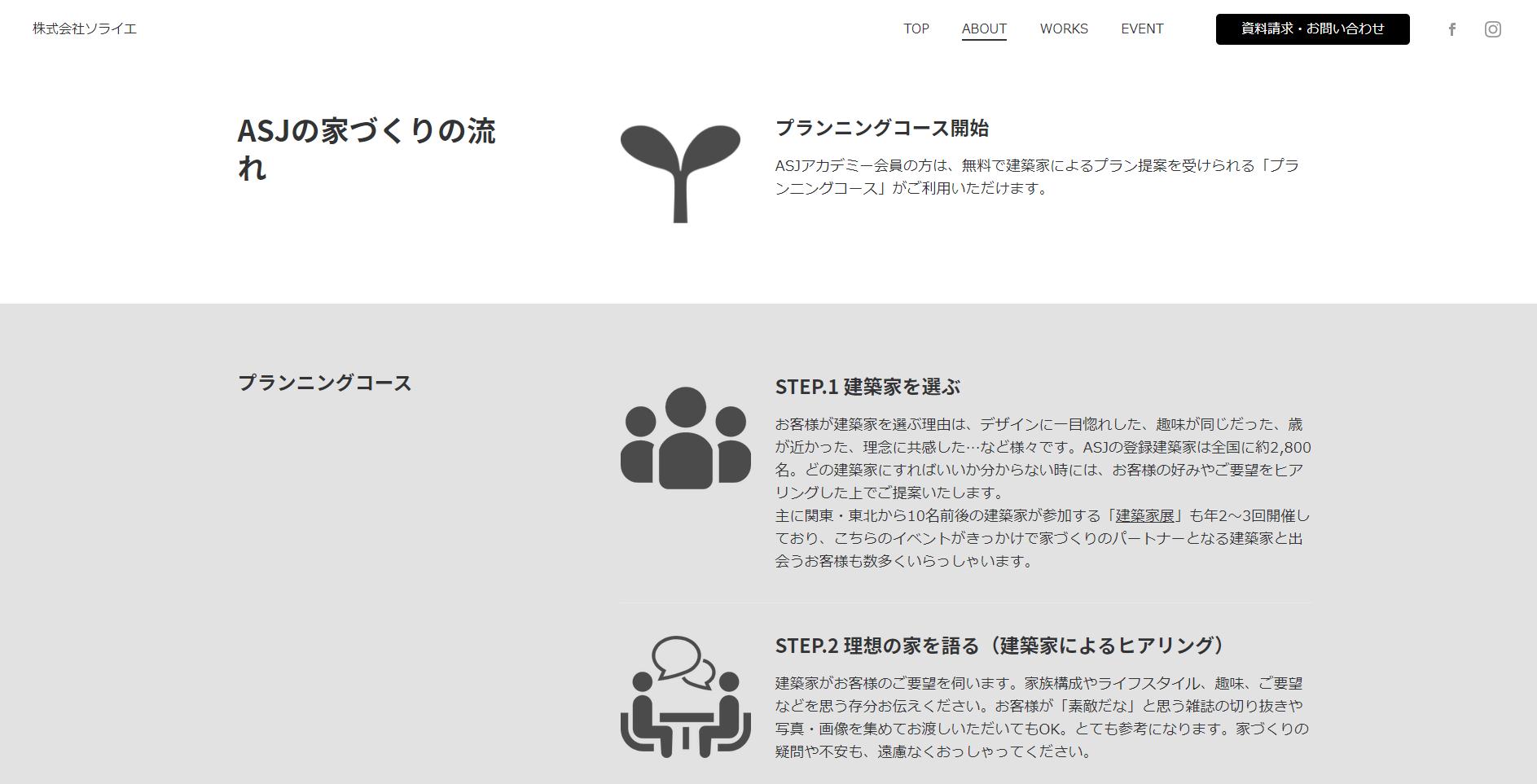 完成までの行程がホームページで詳細に見れるのも嬉しいポイント