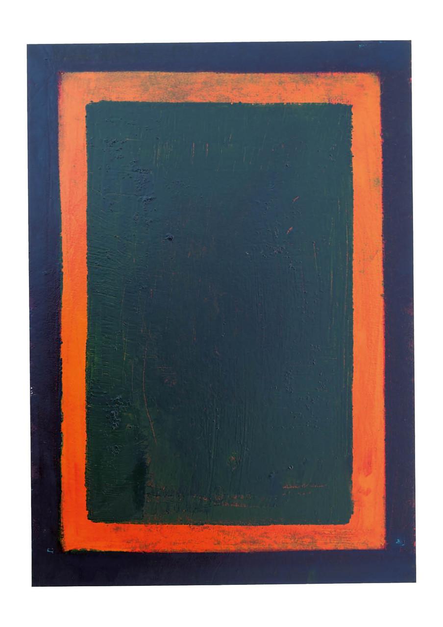 Ohne Titel, 2011, Offsetfarbe auf Papier, 48 x 34 cm