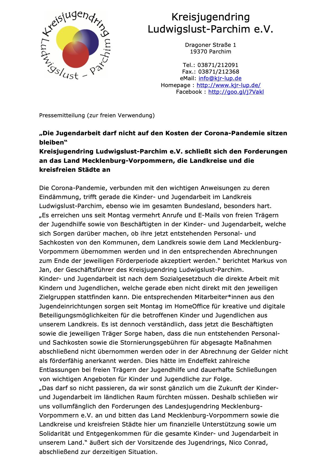 Corona Landkreis Ludwigslust Parchim