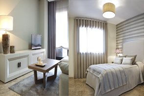 Dormitorio principal y salón-comedor