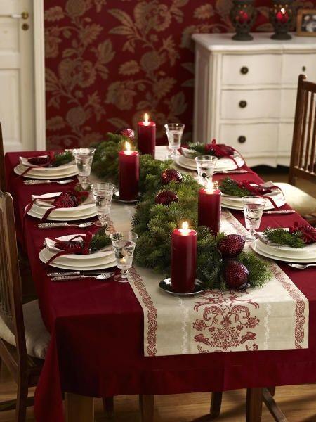 Mesa Navidad, decoración