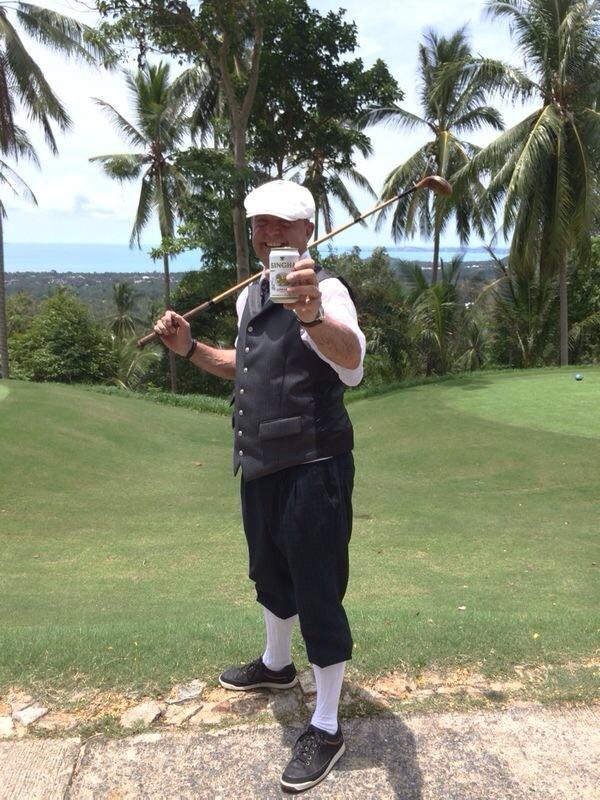 Auch in Thailand lässt sich Hickory Golf spielen