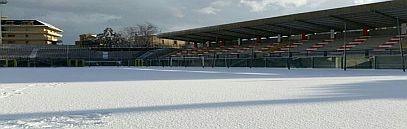 L'aragona dopo la nevicata di gennaio 2016