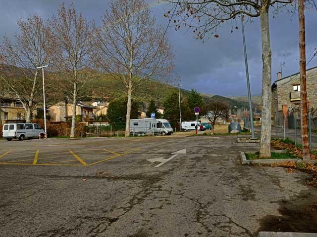Seu de Urgell; Einfahrt zum WOMO-Stellplatz