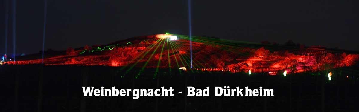 Weinbergbeleuchtung zur Weinbergnacht