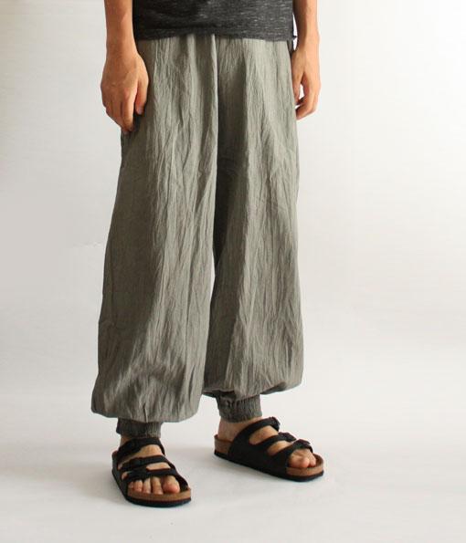ヂェン先生の日常着 バルーンパンツスリム メンズ 着こなし Lサイズ