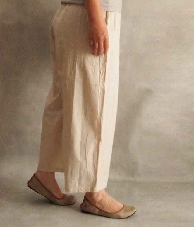 ヂェン先生の日常着 リラックスパンツ 薄手 横イメージ
