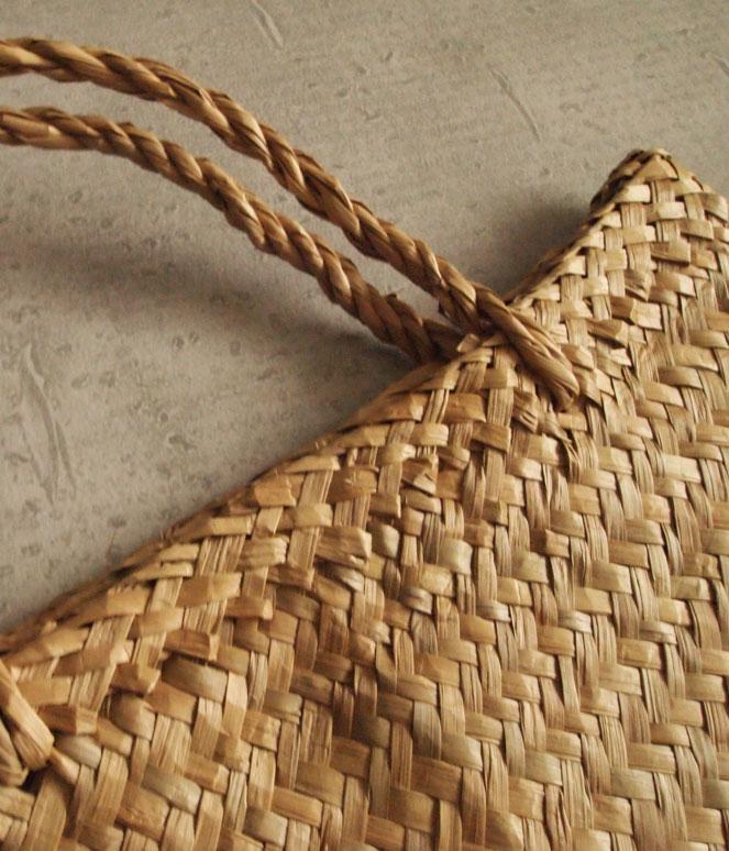ベトナム 市場 かご マルシェ 買い物 水草