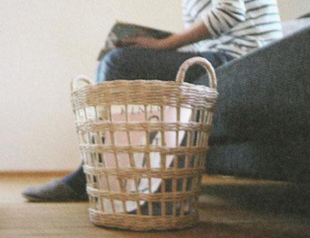 moily モイリー ラペアかご カンボジア ランドリーバスケット 丸型