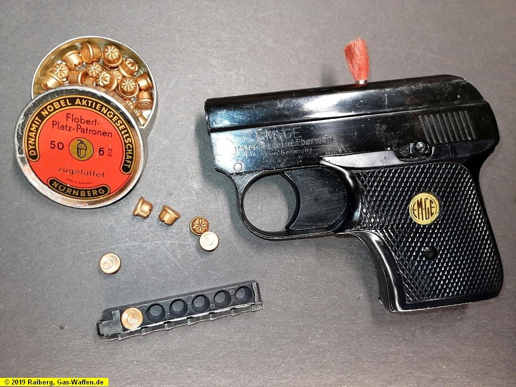 Pistole EM-GE, Modell 60, Kaliber 6 mm Flobert, Startpistole